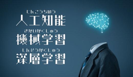 人工知能・機械学習・深層学習 それぞれの違いをわかりやすく解説!