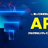 APIとはなにか?実際にプログラミングしてAPIを使ってみる!